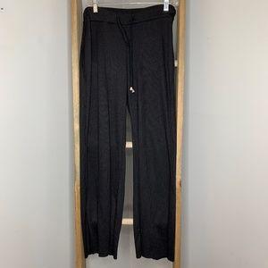 Zara Ribbed Black Wide Leg Lounge Pants NWOT